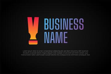 Letter V Hammer Logo Template