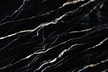 Wall Mural - Natural black granite background for your excellent interior. High quality texture.