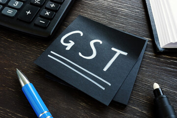 Memo for paying GST Goods and Services Tax.