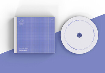 Top View of CD and Case Mockup