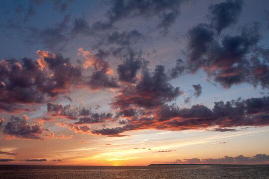 Sunset over Lake Michigan, Glen Arbor, Michigan