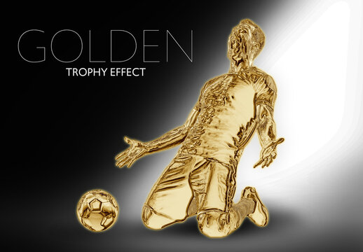 Golden Statue or Trophy Effect