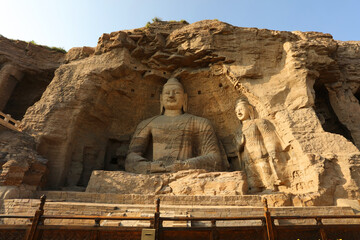 Foto op Canvas Historisch geb. Yungang grottoes in datong, Shanxi Province