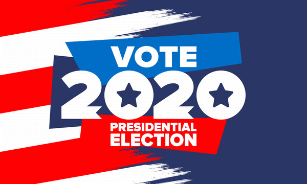 Presidential Election 2020 in United States. Vote day, November 3. US Election. Patriotic american element. Poster, card, banner and background. Vector illustration