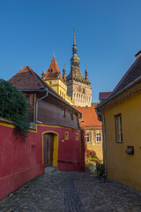 Printed roller blinds Eastern Europe A beautiful alley outside of Sighisoara city wall