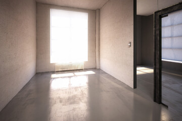 Fotorolgordijn Londen Office Design: Empty Office Area- 3d visualization