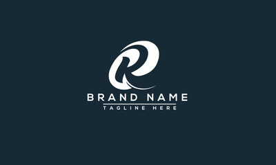 R Logo Design Template Vector Graphic Branding Element.