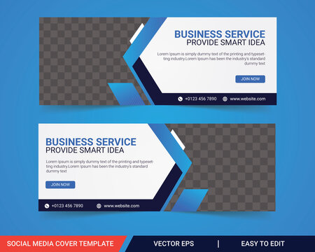 Business facebook cover, Corporate facebook timeline cover template design, Template banner design for social network