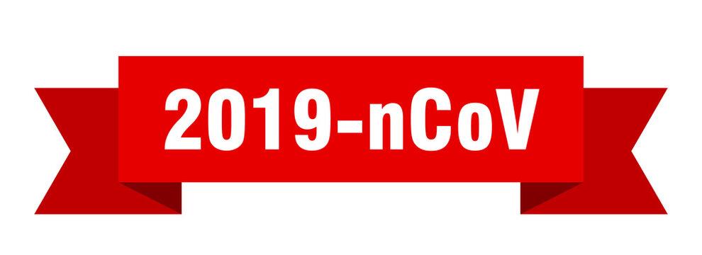 2019-ncov ribbon. 2019-ncov paper band banner sign
