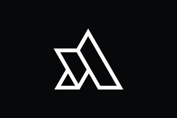 Minimal Innovative Initial AD logo and DA logo. Letter AD DA creative elegant Monogram. Premium Business logo icon. White color on black background