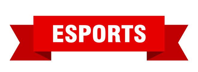 esports ribbon. esports paper band banner sign
