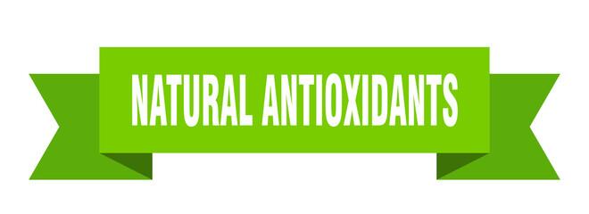 natural antioxidants ribbon. natural antioxidants paper band banner sign
