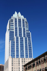 Austin, Texas, March 14, 2019. Downtown landmark - Frost Bank Tower