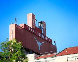 AUSTIN, Texas - September 21, 2019: Darrell K Royal Texas Memorial Stadium at the campus of University of Texas. Texas Longhorns.