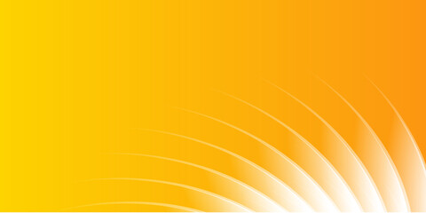 Modern abstract orange yellow white wave presentation background