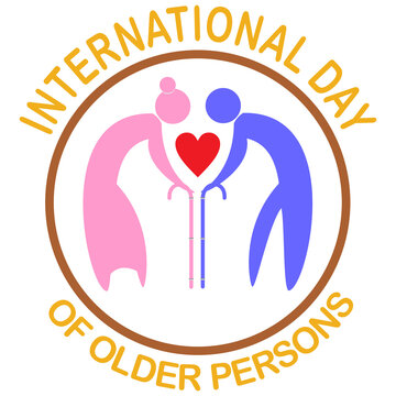 International day of older persons concept. vector illustration.