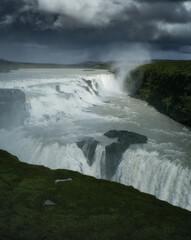 Gullfoss waterfall in South Iceland. Beautiful nature landscape