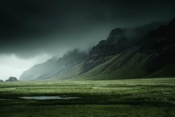 Iceland beautiful nature dramatic landscape. Color toned