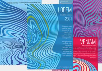 Blue and Purple Abstract Flyer Layout