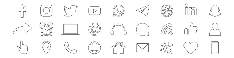 Facebook, Instagram, Twitter, Youtube, Whatsapp, Telegram, Dribbble, LinkedIn, Snapchat - popular social media, messengers, video platform. Business symbols. Kyiv, Ukraine - July 21, 2020