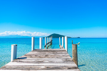 wooden pier in the sea