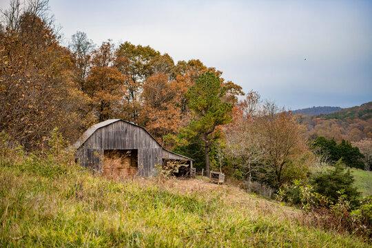 Rustic Rural Scene in the Ozarks of Arkansas in Autumn