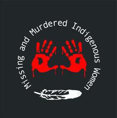 Mmiw ee Missing Murdered Indigenous Women new design vector