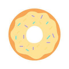 Picture of a donut on a white background. Vector illustration.