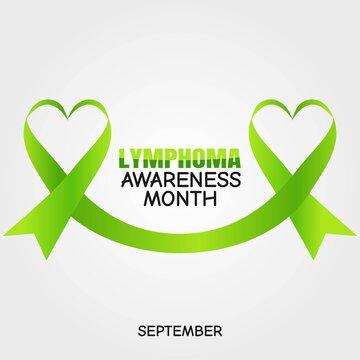 September is Lymphoma Awareness Month Vector Illustration