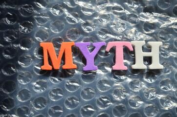slowo myth - fototapety na wymiar