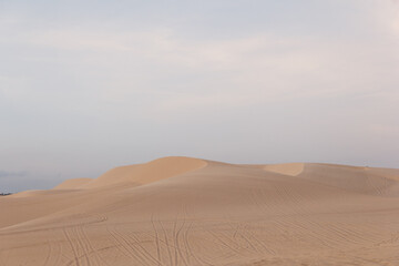Beautiful sand dunes in Vietnam Mui Ne after sunset