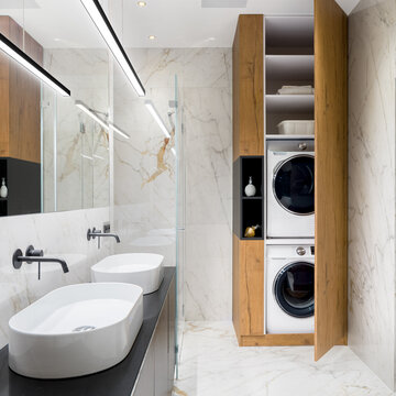 Luxury bathroom with two washbasins