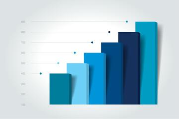 Obraz Chart, column graph, infographic element. - fototapety do salonu