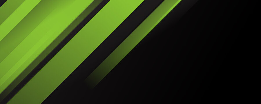 Abstract template elegant header and footers black green lime curve light template on white background with copy space for wide banner background