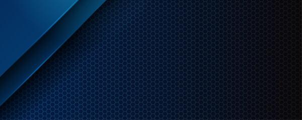 Photo sur Plexiglas Metal Abstract blue light 3D arrow direction on dark grey blank space design modern futuristic technology background vector illustration.