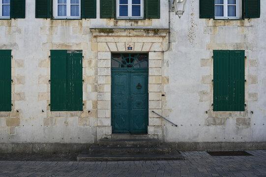 Façade de maison à Saint Martin De Ré