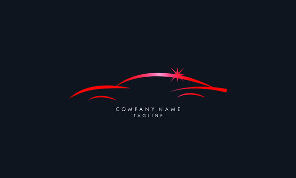 Unique and modern style Automotive collision logo, Auto Detailing Logo vector template