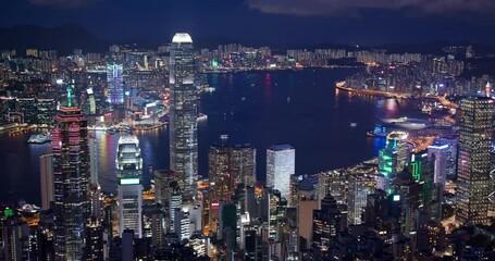 Wall Mural - Hong Kong landmark night