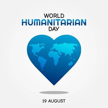 World Humanitarian Day Vector Illustration