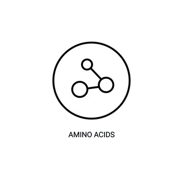 Vitamin, amino acids thin line icon. Element of vitamin icon.