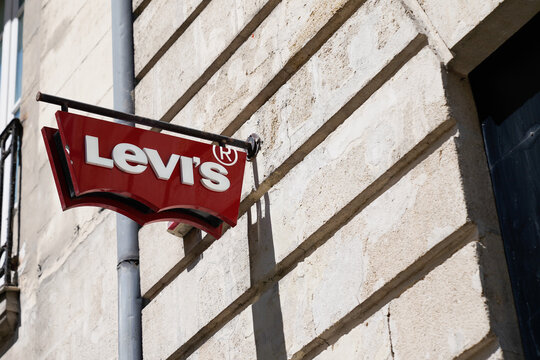 Levi's logo and text sign of clothing store Levis