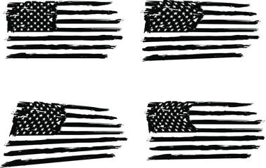 USA Flag,  vector flag, american flag, EPS 10. army, military, veterans, navy, patriotic,
