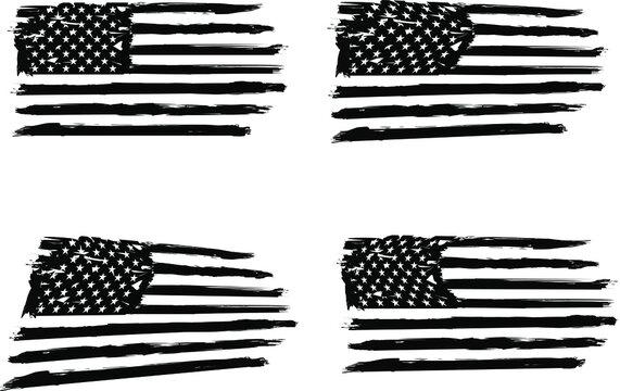 USA Flag,  vector flag, american flag, EPS 10. army, military, veterans, navy, patriotic,