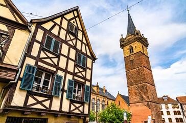 Clock Tower in Obernai - Bas-Rhin, France