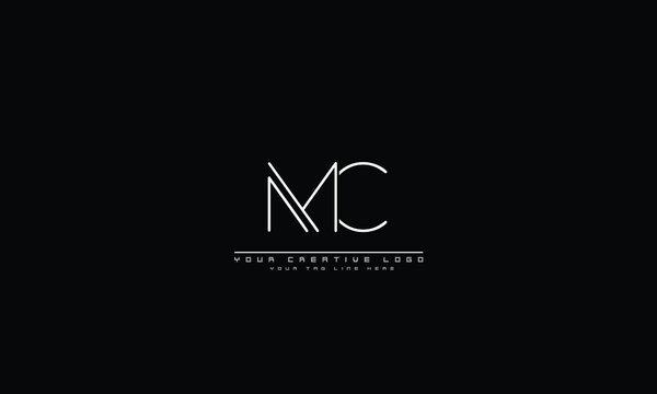 MC CM abstract vector logo monogram template