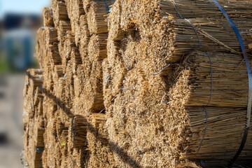 Reet Material für den Hausbau