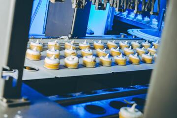 ice cream factory process making conveyor modern