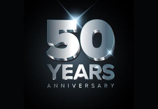 50 Year Anniversary Banner Layout