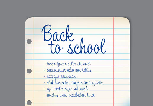 Back-To-School Banner Layout