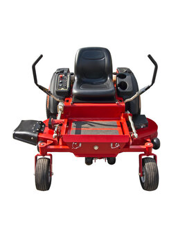 zero turn lawn mower isolated on a white background